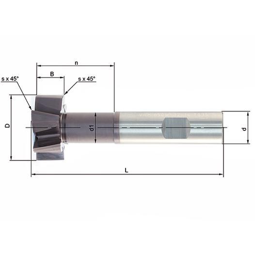 Vollhartmetallfräser VHM 650W-12,5-6 TS35 - null