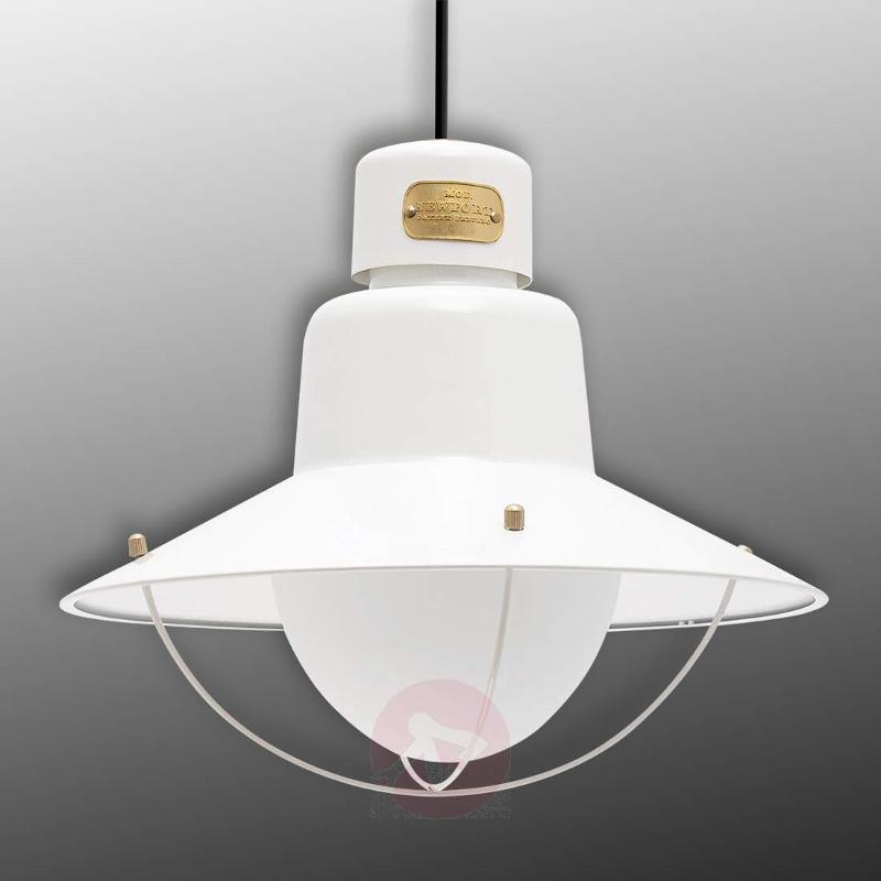 Newport White Exterior Pendant Lamp - Outdoor Pendant Lighting