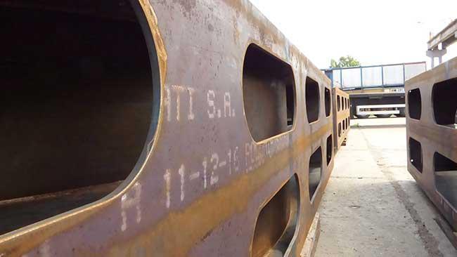 Stahlbau der Stützhalterung -