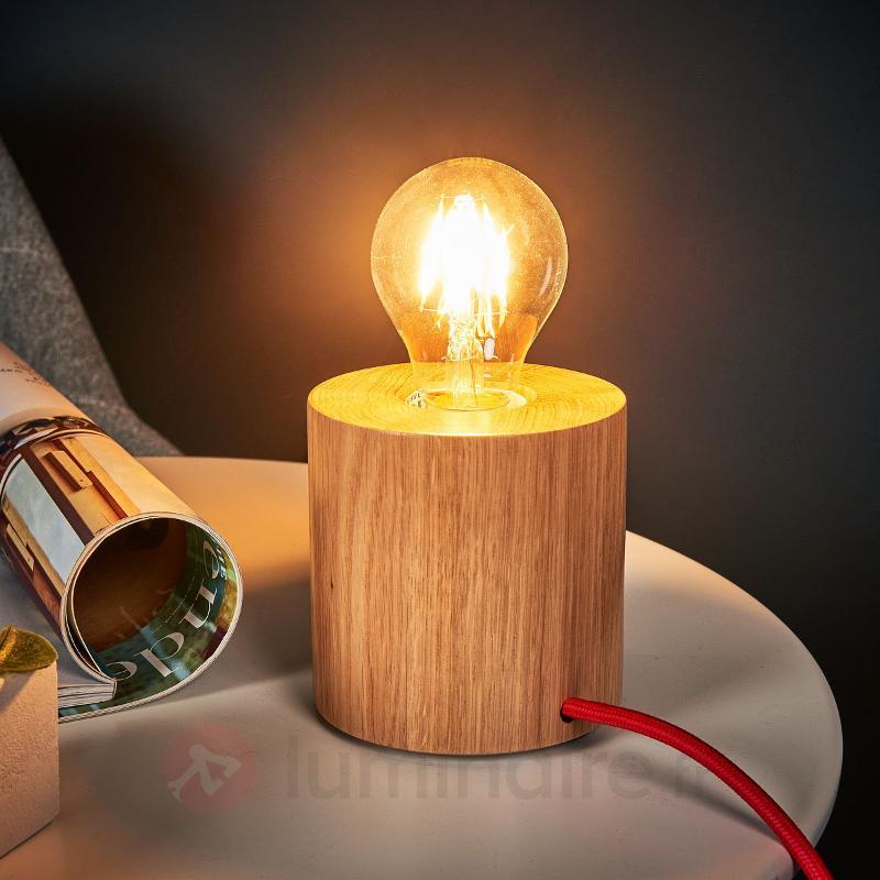 Lampe à poser bois Trongo, au design épuré - Lampes à poser en bois