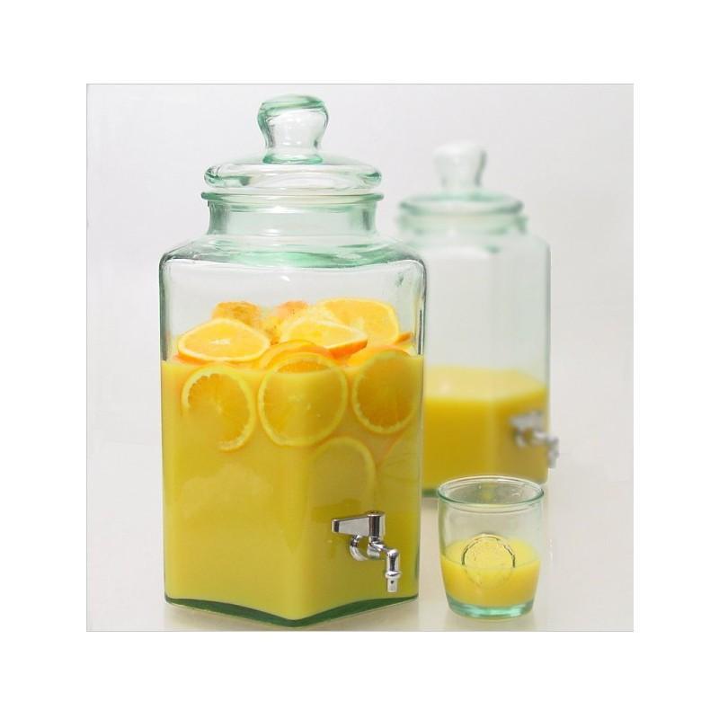 Grande vaso, damigiana /bonbonniera esagonale - in vetro 11.5 L
