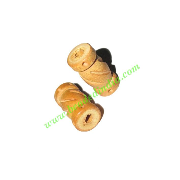 Natural Color Wooden Beads, size 9x19mm, weight approx 0.68  - Natural Color Wooden Beads, size 9x19mm, weight approx 0.68 grams