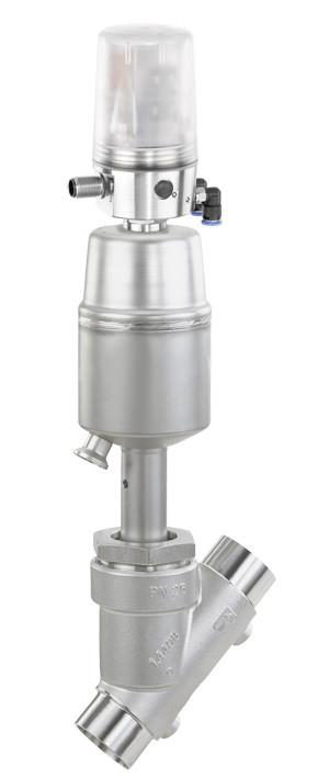 GEMÜ 550 - Válvula de asiento inclinado de accionamiento neumático