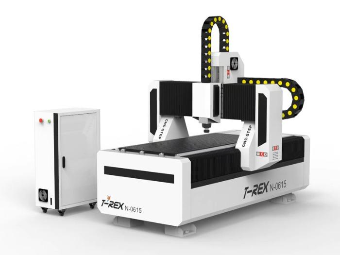 CNC Router T-Rex N-0615 Stepper - control panel with integrated CNC controller, vacuum table, CAM software