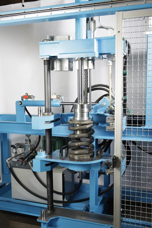 Combination shock absorber and spring test machine - Railway technology