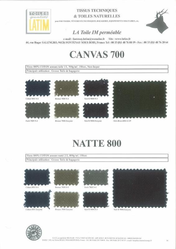 CANVAS 700 & NATTE 800 - Toiles naturelles
