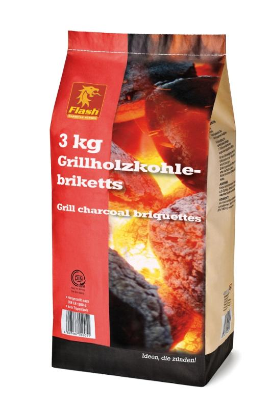 FLASH Grillholzkohle-Briketts 3 kg - null
