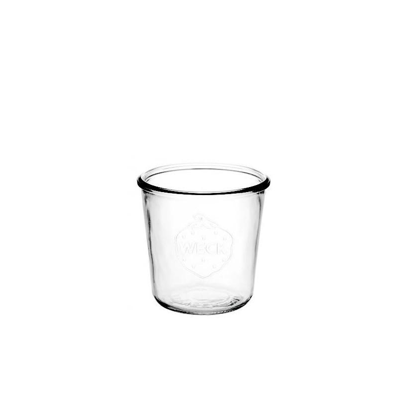 6 vasi in vetro WECK Droits 290 ml alti senza coperchio - né guarnizione (diametro. 80 mm).