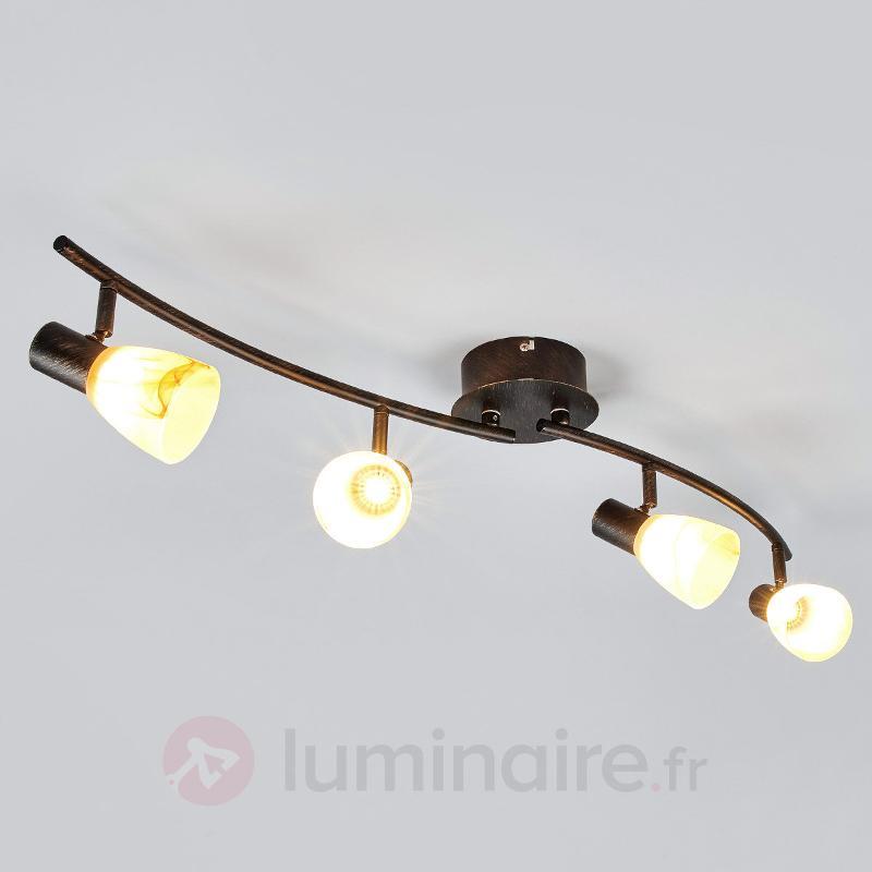 Duena - plafonnier élégant avec LED d'OSRAM - Plafonniers LED