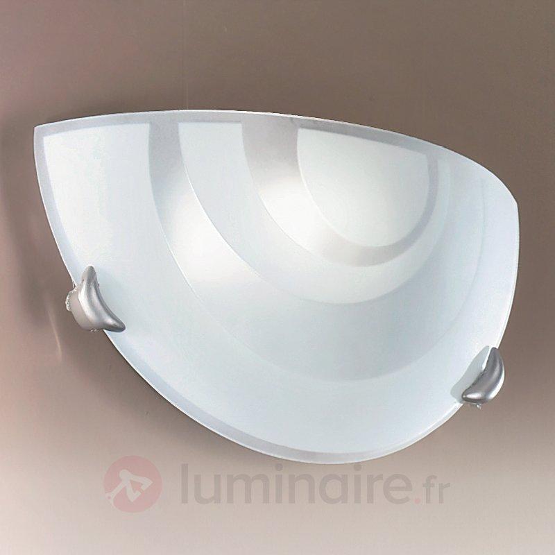 Applique semi-circulaire LORIA en verre opale - Appliques en verre
