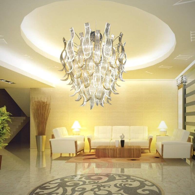 Opulent glass hanging light Eden - design-hotel-lighting
