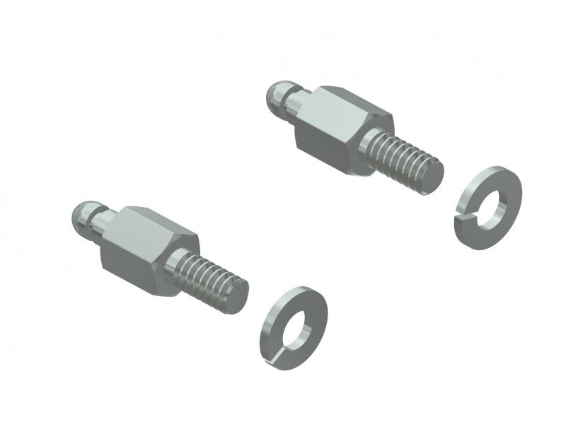 D-SUB connectors with locking bolt for quicklock hoods - D-SUB connectors with bolt for CONEC SnapLock