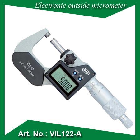 """Micromètre électronique externe - IP 65 poussière / imperméable Résolution: 0.001 / 0.0005 """" Faces de mesure en ca"""