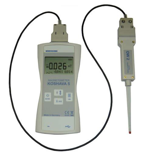 Tragbares Teslameter / Gaussmeter mit USB
