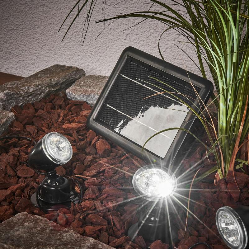 Kit spot solaire Quattro Power - Toutes les lampes solaires