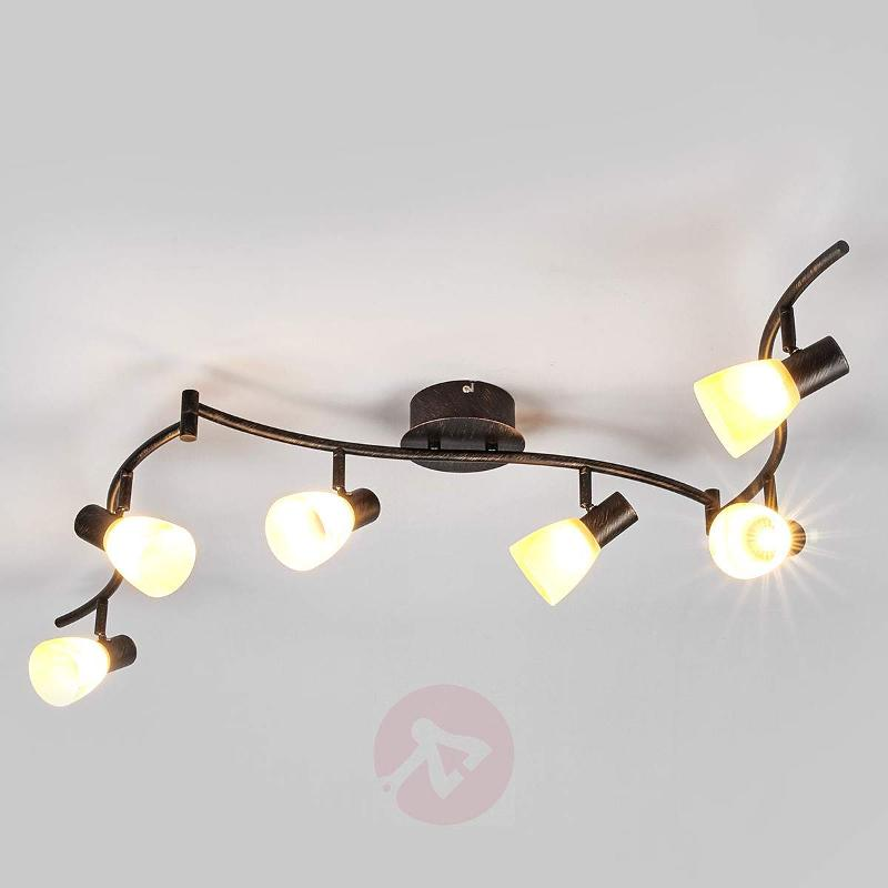 Ceiling lamp Duena, glass lampshades, OSRAM LEDs - Ceiling Lights