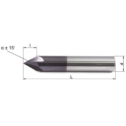 Vollhartmetallfräser VHM 461-04-60 Ti10 - null