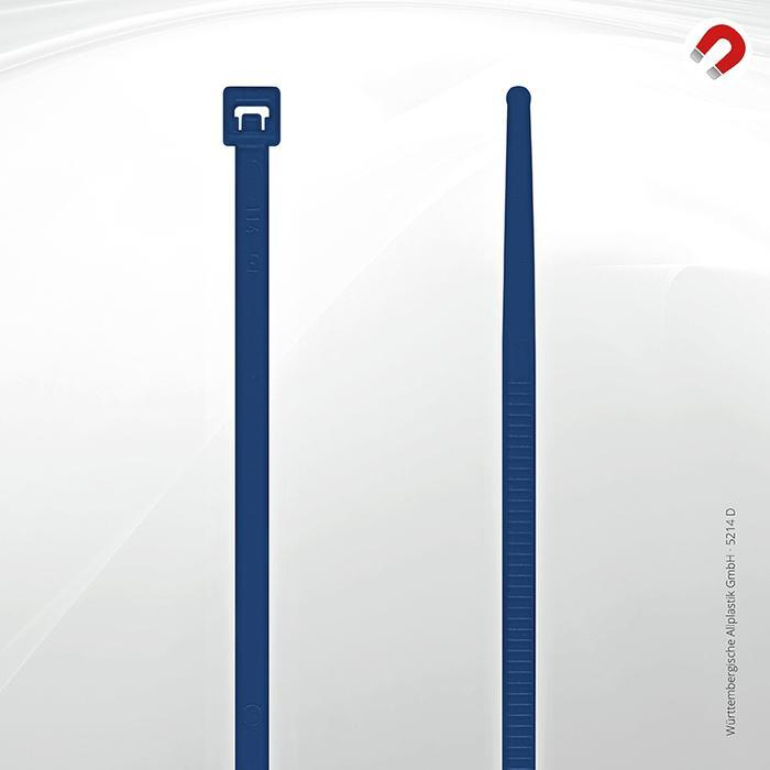 Allplastik-Kabelbinder® cable ties, detectable - 5214 D (blue)