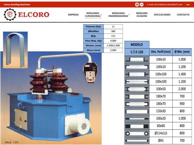 Curvadora ELCORO - CTE 120