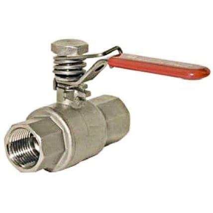 Ball Valves - Stainless steel ball valve with spring return K86F