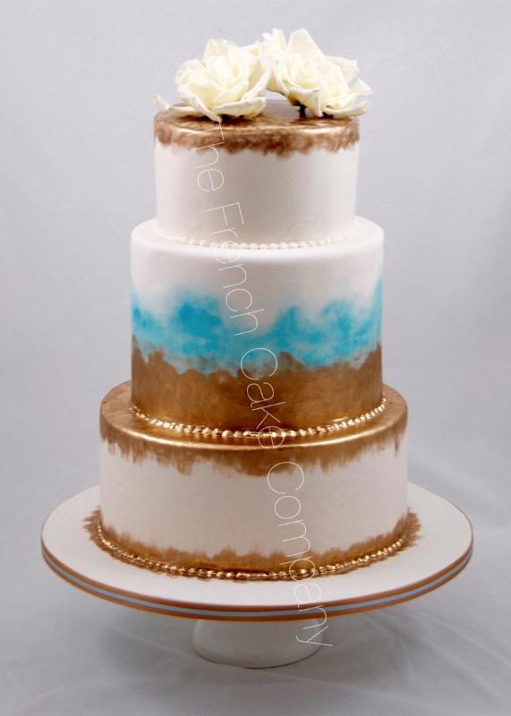 Gâteaux et Pièces Montées sur-mesure - Pièce montée Or et Bleu