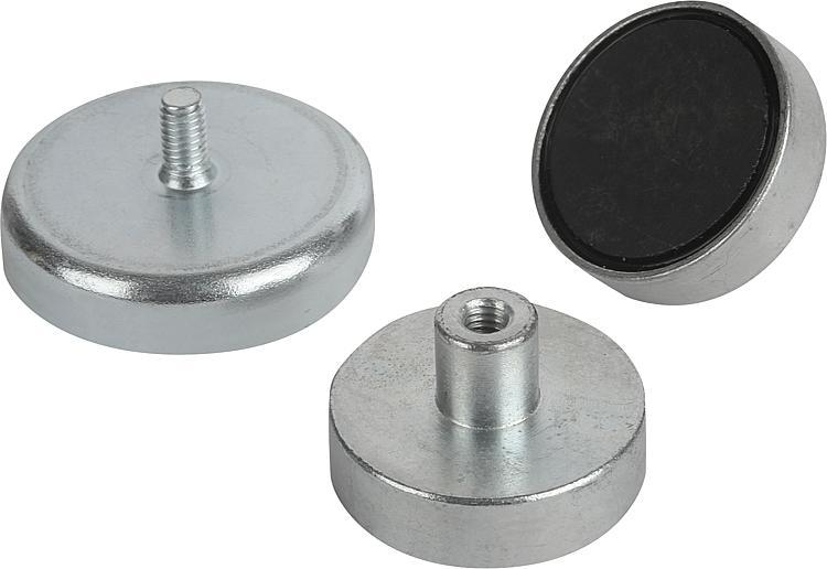 Magnets Shallow Pot With Thread Hard Ferrite - Magnets