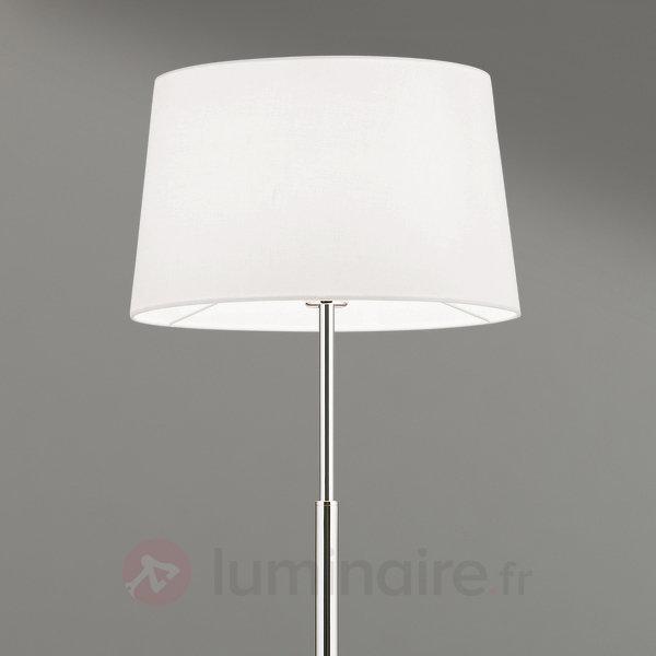 Lampadaire Vardan à abat-jour en lin blanc - Lampadaires en tissu