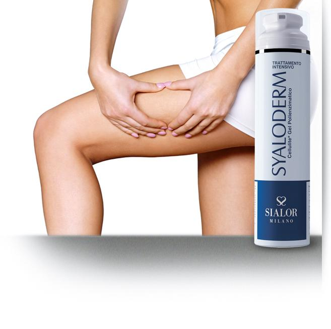 Syaloderm - anti cellulite gel - Helps reducing imperfections of Cellulite, orange peel and mattress skin
