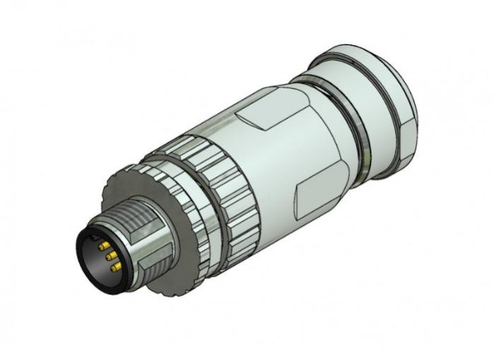 M12x1 Rundsteckverbinder konfektonierbar - M12x1 Rundsteckverbinder konfektonierbar