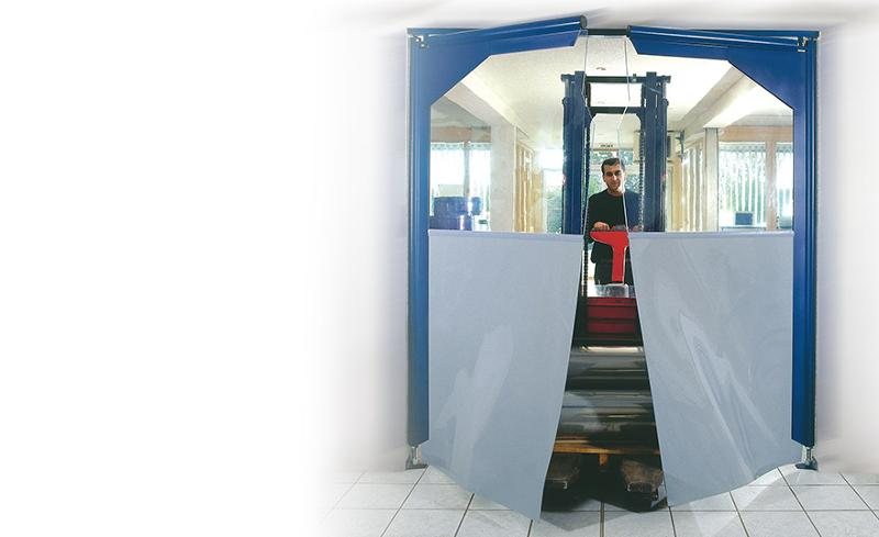Porte à vantaux souples SP2000 - Portes industrielles en PVC souple