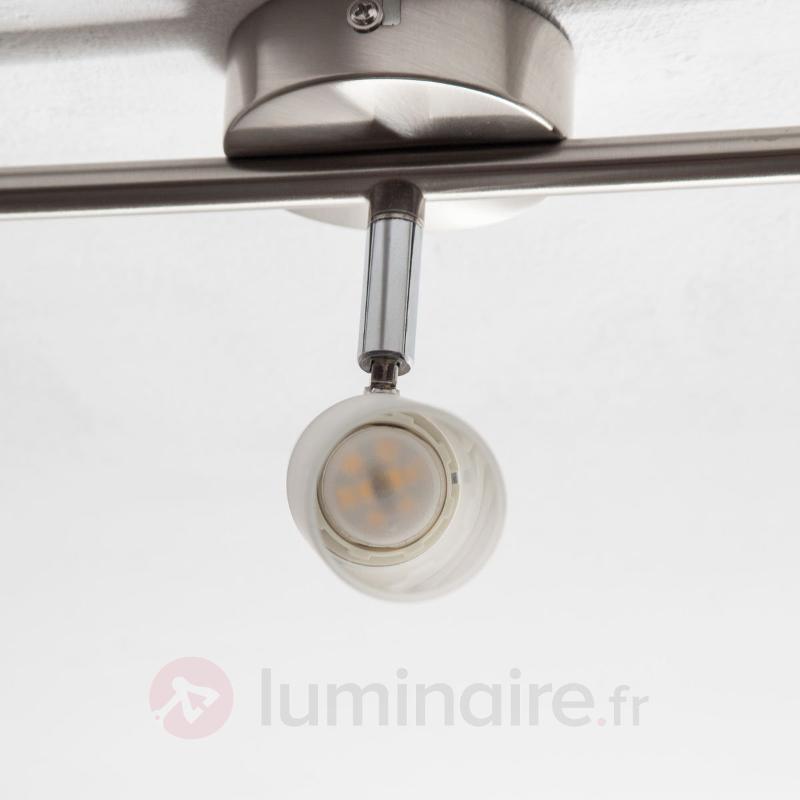Plafonnier LED Tamia à 3 lampes de couleur nickel - Plafonniers LED