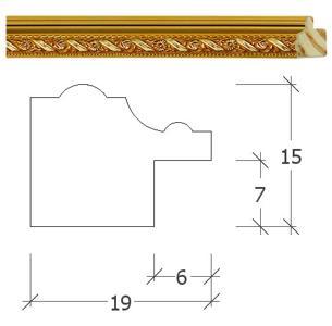 Molduras para quadros - Molduras dourado 78 ons