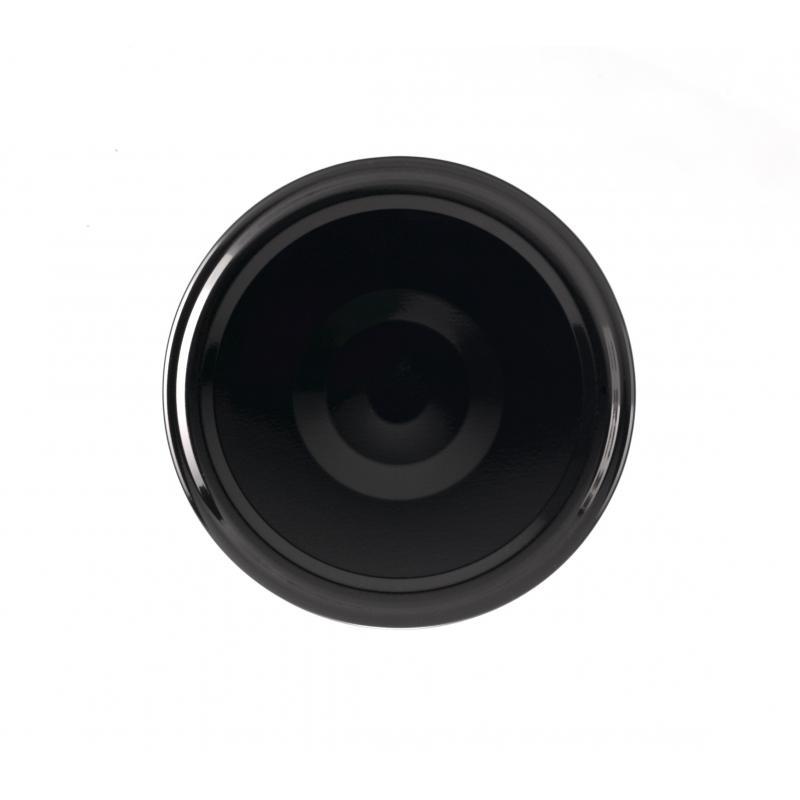 100 capsules TO 66 mm noires Pasteurisables avec Flip - NOIR