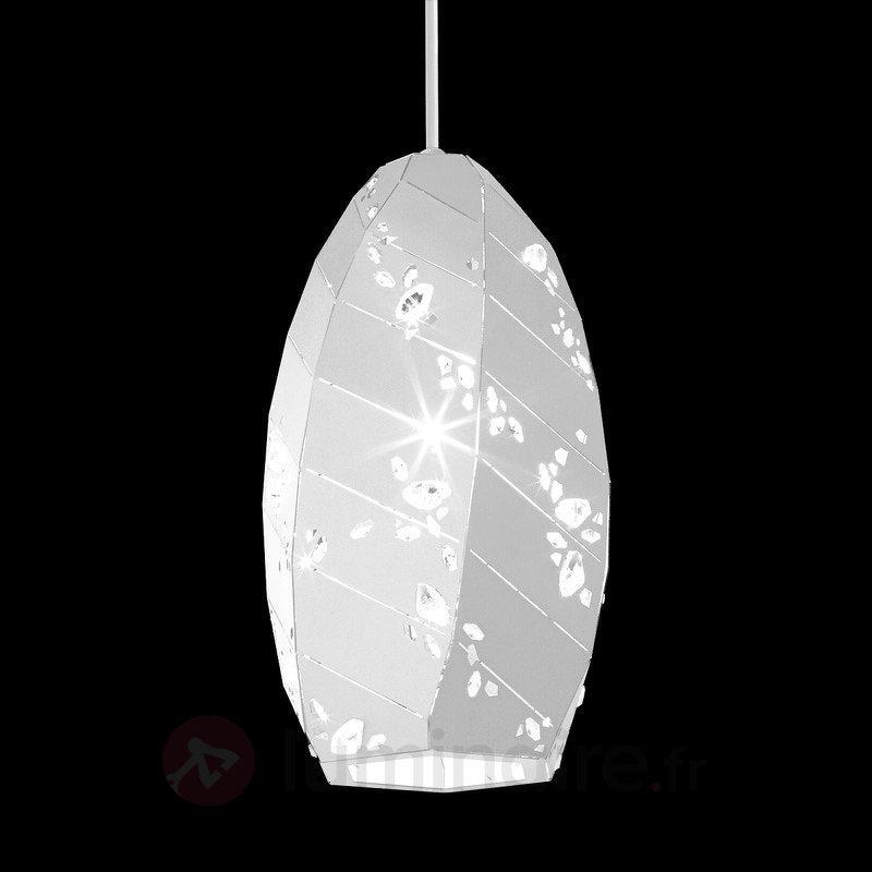 Avec cristaux - suspension Apta en blanc, 15 cm - Suspensions design