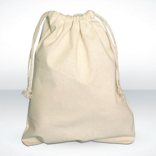 Unbleached muslin Cotton drawstring bags