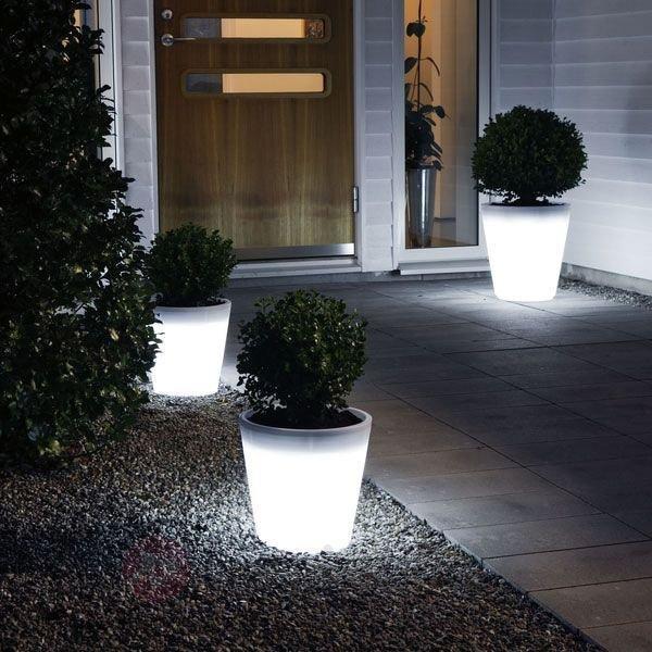 Pot de fleurs lumineux ASSISI LED - Lampes décoratives d'extérieur