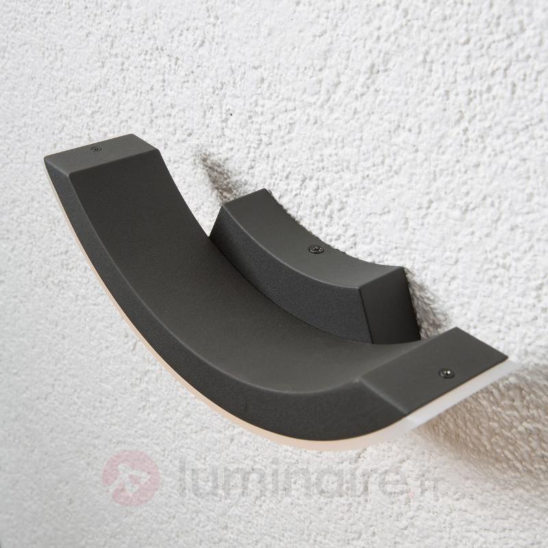 Applique extérieure LED gris graphite Half - Appliques d'extérieur LED
