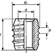 Thread inserts - TRISERT® - self-tapping inserts