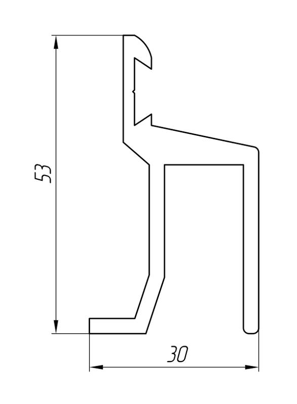 Aluminum Profile For Car And Rail Car Building Ат-1202 - Aluminum profile for mechanical engineering