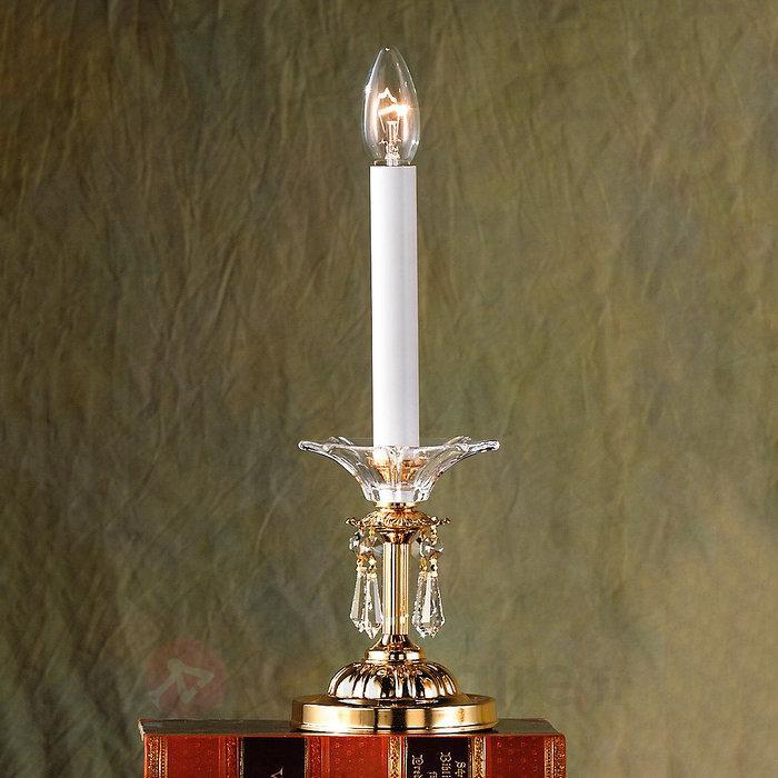 Lampe à poser KATHARINA, cristaux plomb 24 carats - Lampes à poser en cristal