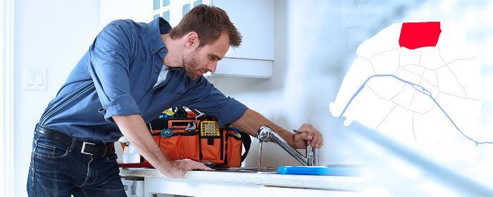 Dépannage plombier Paris 18 (75018) - Intervention en plomberie à Paris 18 (75018) 24/24h et 7/7 jours