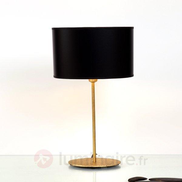 Lampe à poser Mattia avec abat-jour ovale - Lampes à poser classiques, antiques