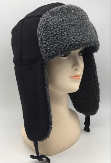 Fleece Lined Aviator Hat with Earflaps - Fleece Lined Aviator Hat with Earflaps
