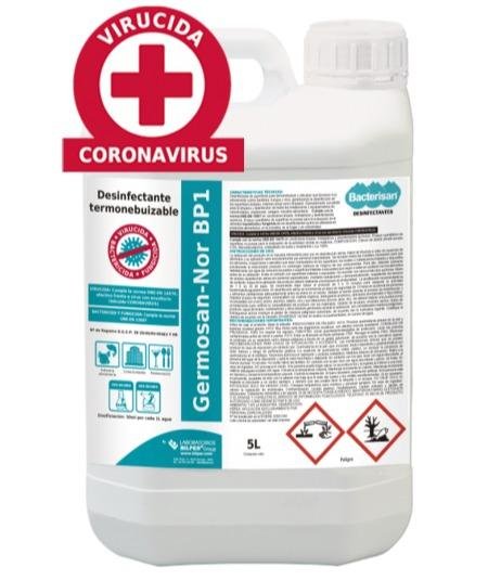 GERMOSAN NOR BP1 THERMONEBULIZABLE - Thermospray surface disinfectant | Bactericide - Fungicide VIRUCIDE | 5% DILUT