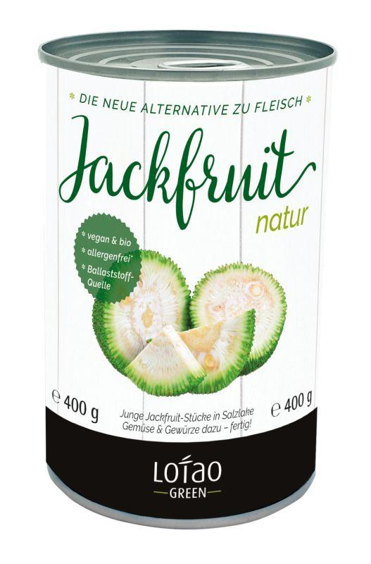 Jackfruit 3 kg Dose, bio - Junge Jackfruit-Stückchen in Salzlake