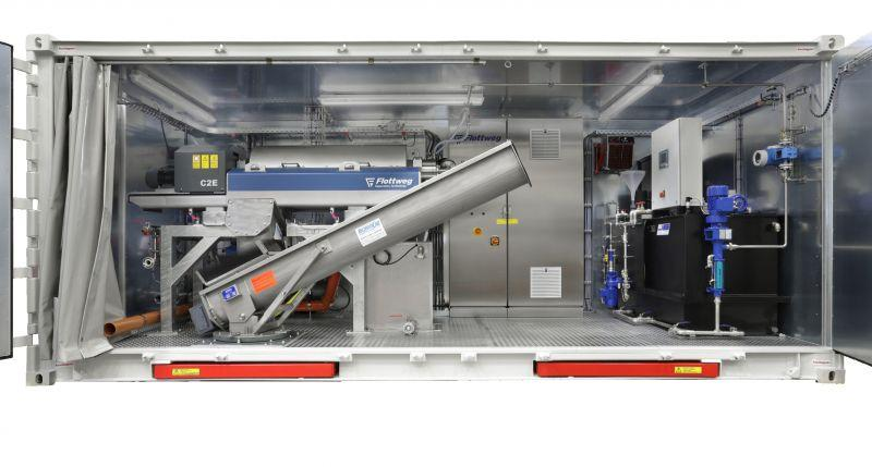 Flottweg C series - Flottweg C Series decanter centrifuge for sludge in waste water treatment plant