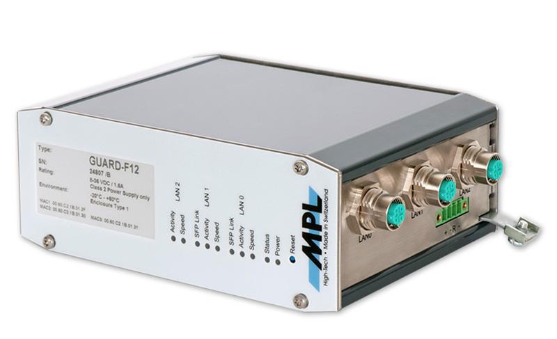 GUARD-F12: EN50155 zertifizierte Firewall / Router - null