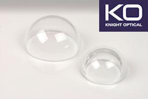 Knight Optical's Custom domes for Pyronometers - A dome is essentially a window that has two parallel curves faces