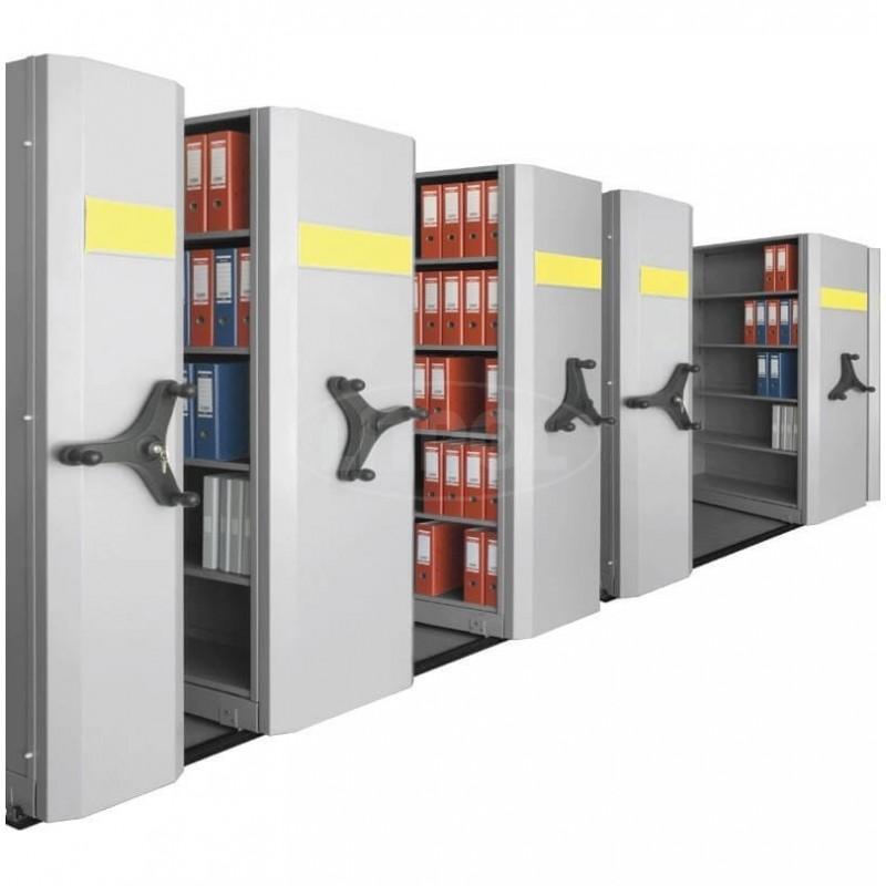 Передвижные архивные металлические стеллажи - Модель LITREG