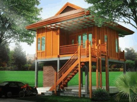 wooden house -